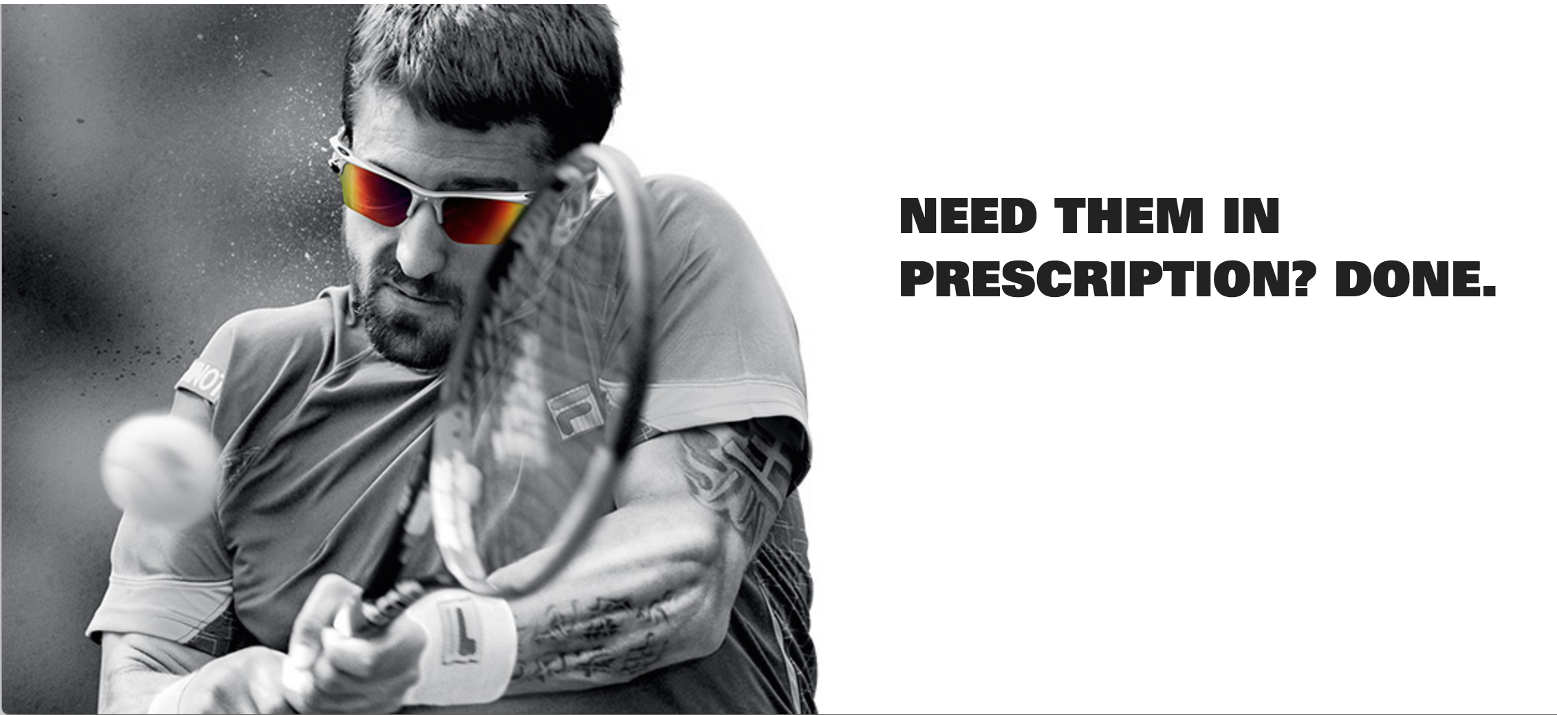 Oakley prescription glasses banner